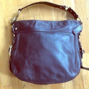 Coach Zoe Large Leather Hobo Handbag  E0082-12669